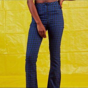 UNIF Pants & Jumpsuits - UNIF Blue Winx Plaid Pants
